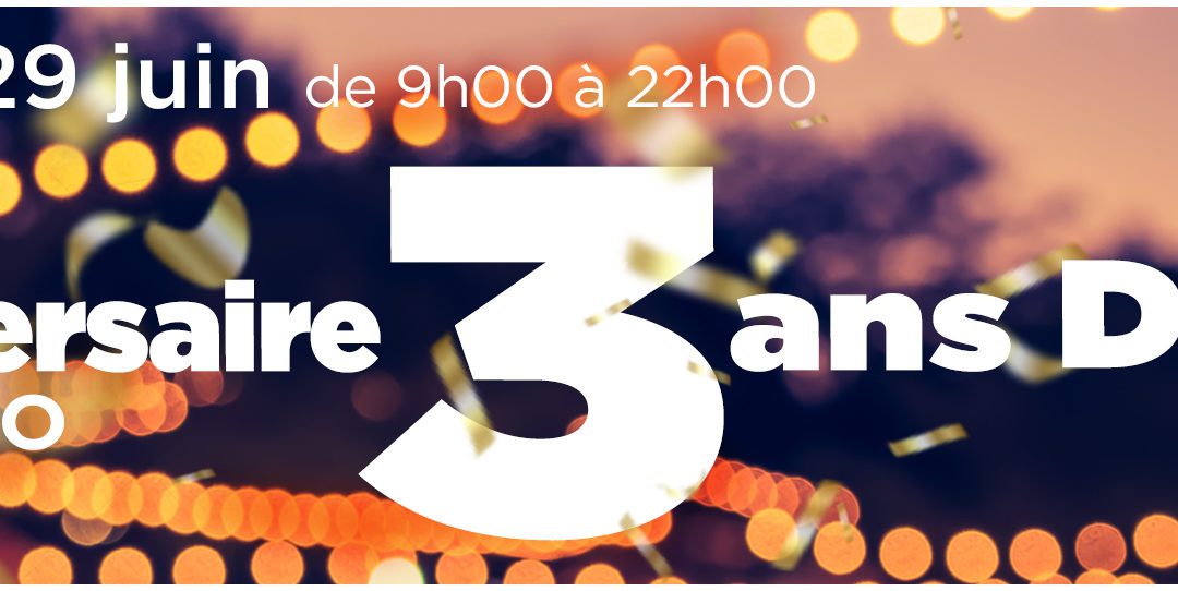 3 ans déjà – l'anniversaire de l'Azuréo !